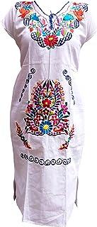 فساتين مكسيكية للنساء مطرزة بالهبل التقليدي حفلة عيد ميلاد مكسيكية