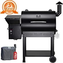 Z Grills ZPG-7002B 2019 New Model Wood Pellet Grill & Smoker, 8 in 1 BBQ Grill Auto Temperature Controls, 700 sq inch Cooking Area, Black