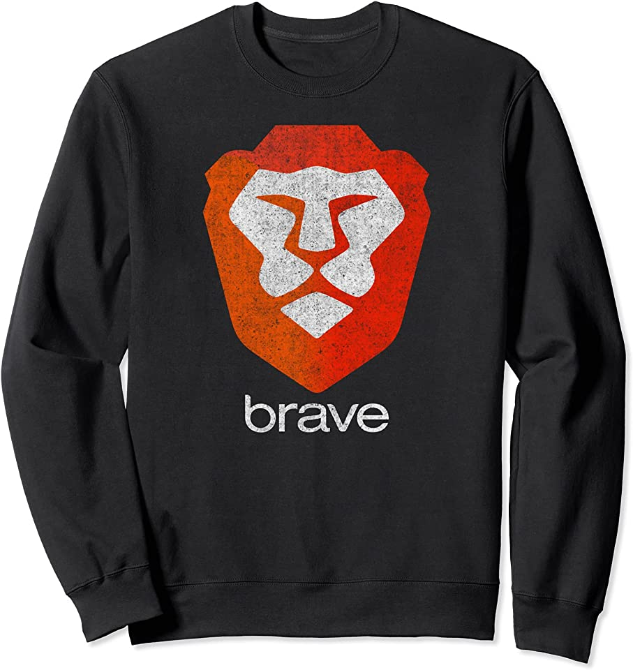 Brave Browser, BAT Basic Attention Token, DeFi Crypto Wallet Sweatshirt