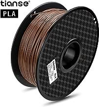 TIANSE Coffee PLA 3D Printer Filament, 1 kg Spool, 1.75 mm, Dimensional Accuracy +/- 0.03 mm