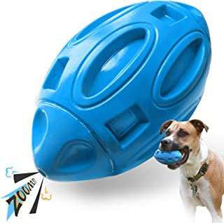 EASTBLUE Squeaky Dog Toys forAggressiveChewers: Rubber Puppy Chew Ball with Squeaker, Almost Indestructible and Durable ...