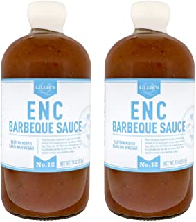 Lillie's Q - ENC Barbeque Sauce, Gourmet BBQ Sauce, Spicy Vinegar BBQ Sauce, All-Natural Ingredients, Made with Gluten-Fre...