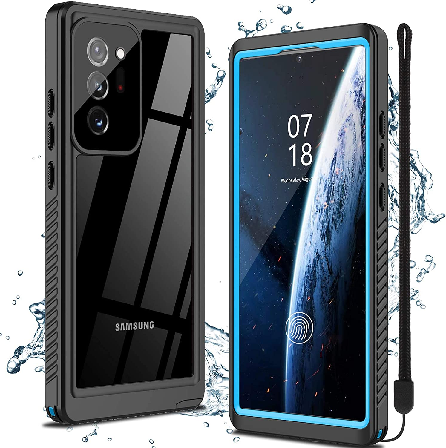 Nineasy for Samsung Galaxy Note 20 Ultra Case, Note 20 Ultra Waterproof Case,360° Full Body Protection with Built in Screen Protector Underwater Cover IP68 Shockproof Case for Note 20 Ultra 5G 6.9