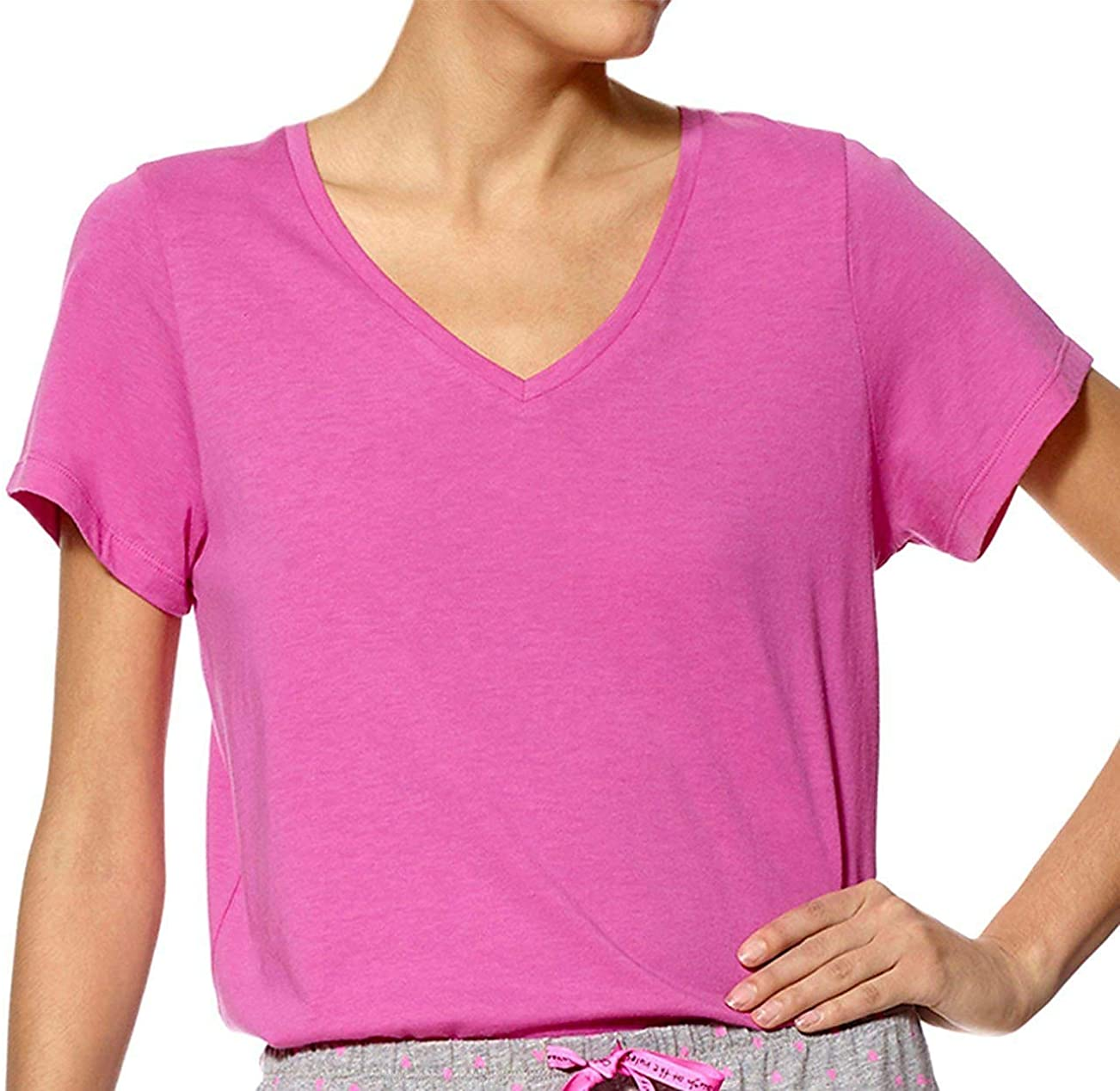 HUE Women's Short Sleeve Free Shipping Cheap Bargain Gift V-Neck Sleep Today's only Tee