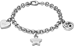 Trademark Bracelet w/ Heart, Star and Interlocking G Charms
