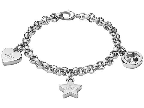 Gucci Trademark Bracelet w/ Heart, Star and Interlocking G Charms