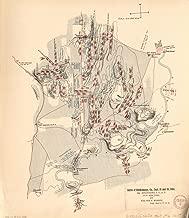 1800 Map Georgia, Chickamauga Battle of Chickamauga, Ga., Sept. 19 and 20, 1863