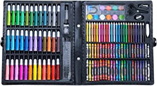 150pcs Deluxe Art Set Drawing Art Box with Markers Color Pencils Crayons Oil Pastels Watercolor Cakes and Accessories Pain...