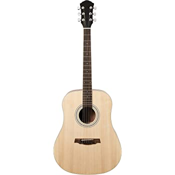 AmazonBasics Beginner Full-Size Acoustic Guitar with Strings, Picks, Tuner, Strap, and Case - 41-Inch, Spruce and Okoume