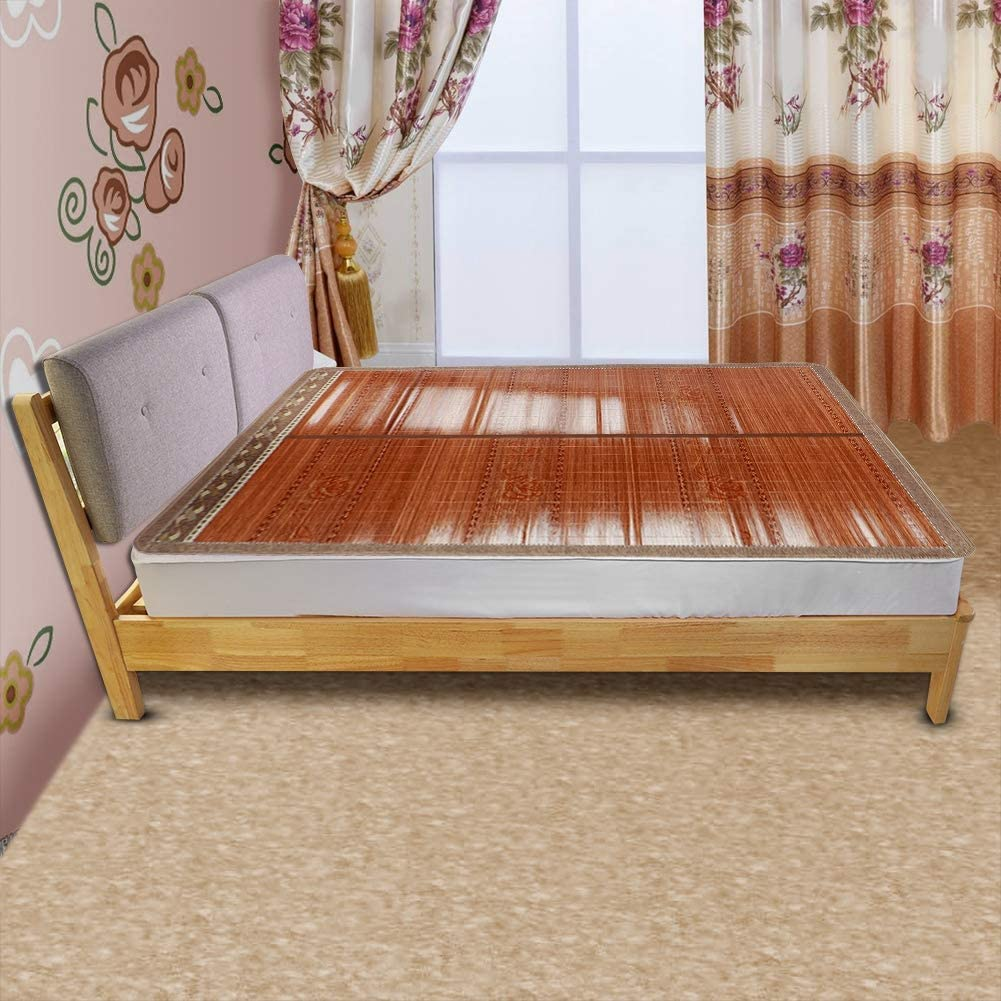 Pliable(180 * 195cm, Wealthy flower with pillowcase bamboo) 180*195cm, Rich Flowers Bloom (Single Seat)