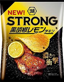 湖池屋 KOIKEYA STRONGポテトチップス黒胡椒レモンチキン 56g ×12袋