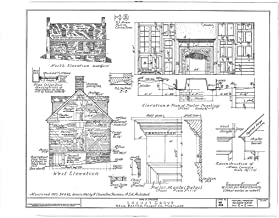 Historic Pictoric Blueprint Diagram HABS MD,21-EATO.V,7- (Sheet 2 of 2) - Locust Grove, Villa Road, Easton, Talbot County, MD 44in x 32in