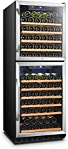 Lanbo Built-in Dual Zone Wine Cooler with Double-Layer Glass Door, 133 Bottle