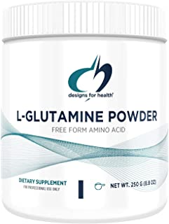 Designs for Health Vegetarian L Glutamine Powder - Pure 3000mg Amino Acid Supplement - Promotes Muscle Recovery, Gut + Imm...