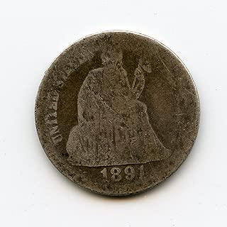 1891 Seated Liberty Dime AG