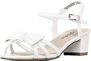SODA Sarina-2 Children's Girl's Open Toe Slingback Block High Heel Sandals