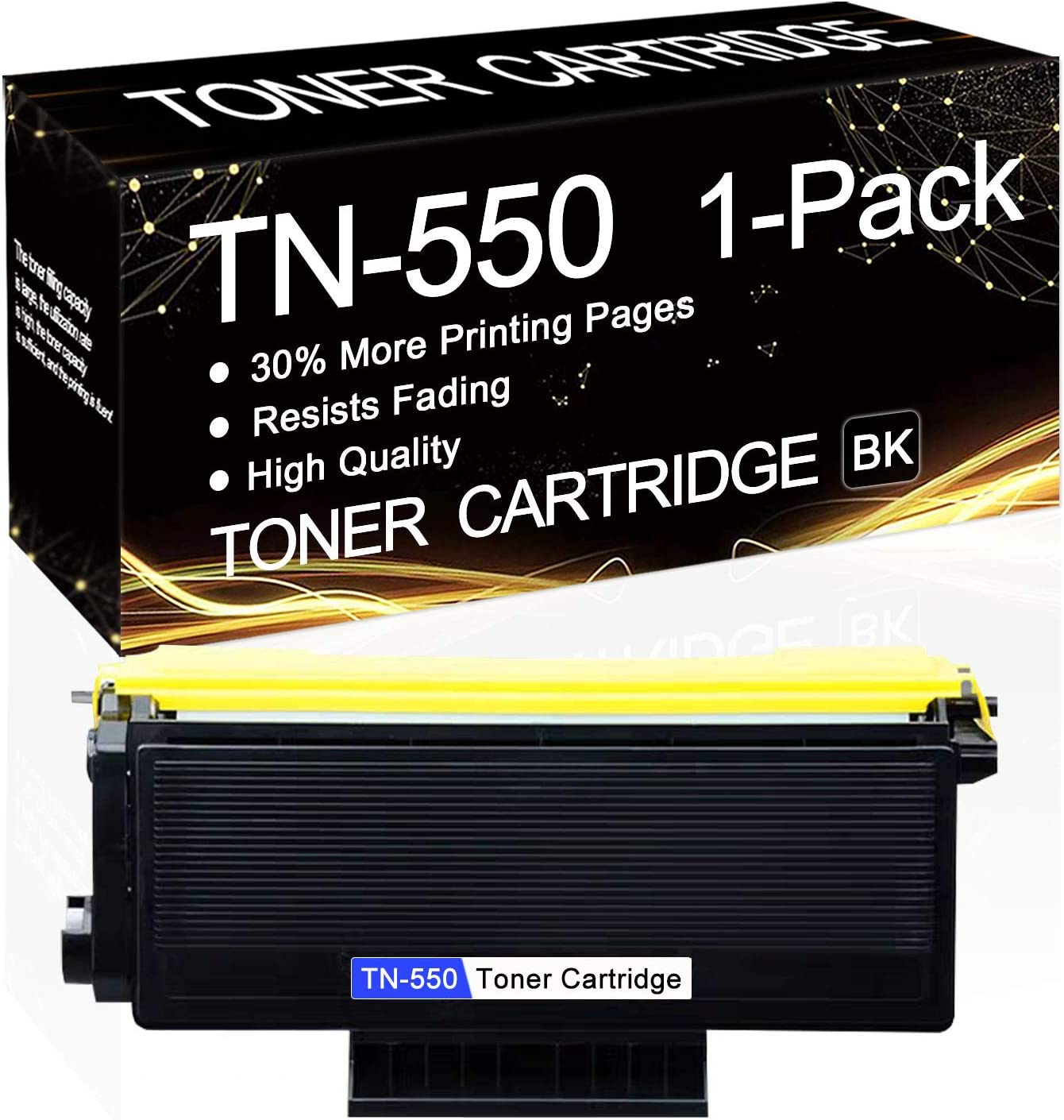1 Pack 営業 TN-550 Black 高級な TN550 Compatible Replacement Toner Cartridge