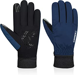 Lapulas Mens Winter Gloves Womens Thermal Gloves Warm Gloves Waterproof Anti-Slip Running Cycling Gloves for Driving Skiing