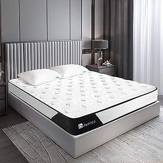 Avenco マットレス セミダブル 高反発 マットレス ポケットコイル セミダブル ベッド 極厚 21cm ボンネル マットレス コイル 数 589個 並行 配列 セミダブル ベッド セミダブル (120x195x21cm) ベッド マットレス