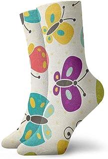 BEDKKJY, Calcetines Deportivos Mariposa de Dibujos Animados Increíble para Mujer Bota Corta Medias Decoración Calcetín para niños
