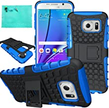Galaxy S7 Edge Case,Samsung Galaxy S7 Edge Case,Moment Dextrad Dual Layer Defender with Kickstand Protection Case for Samsung Galaxy S7 Edge (2016) (Blue)