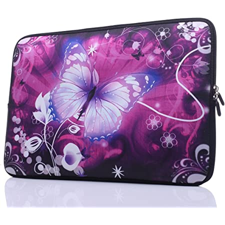 Brown Butterfly Collage Laptop Sleeve Bag Notebook Computer PC Neoprene Protection Zipper Case Cover 17 Inch