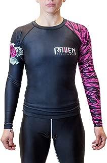 Women's Aerial Assault Rash Guard MMA BJJ Black/Pink