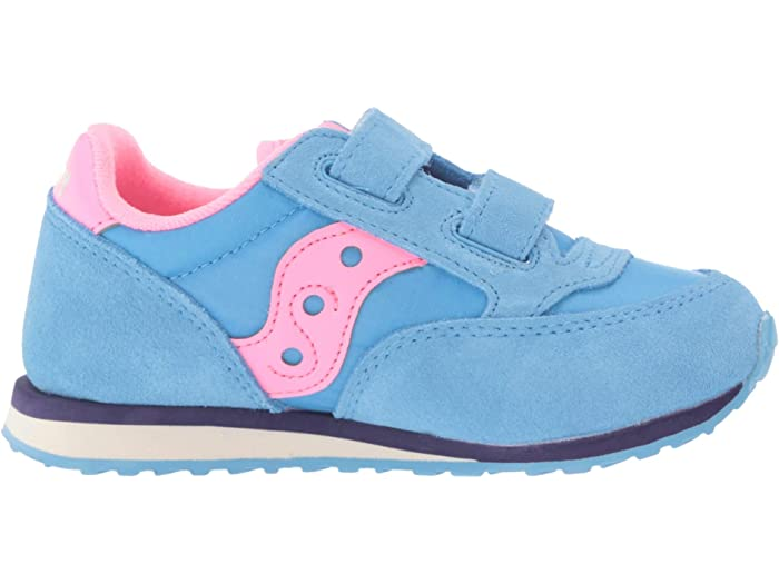 Saucony Baby Jazz Hook /& Loop Sneaker Little Kid 7.5 Grey//Pink ST58822