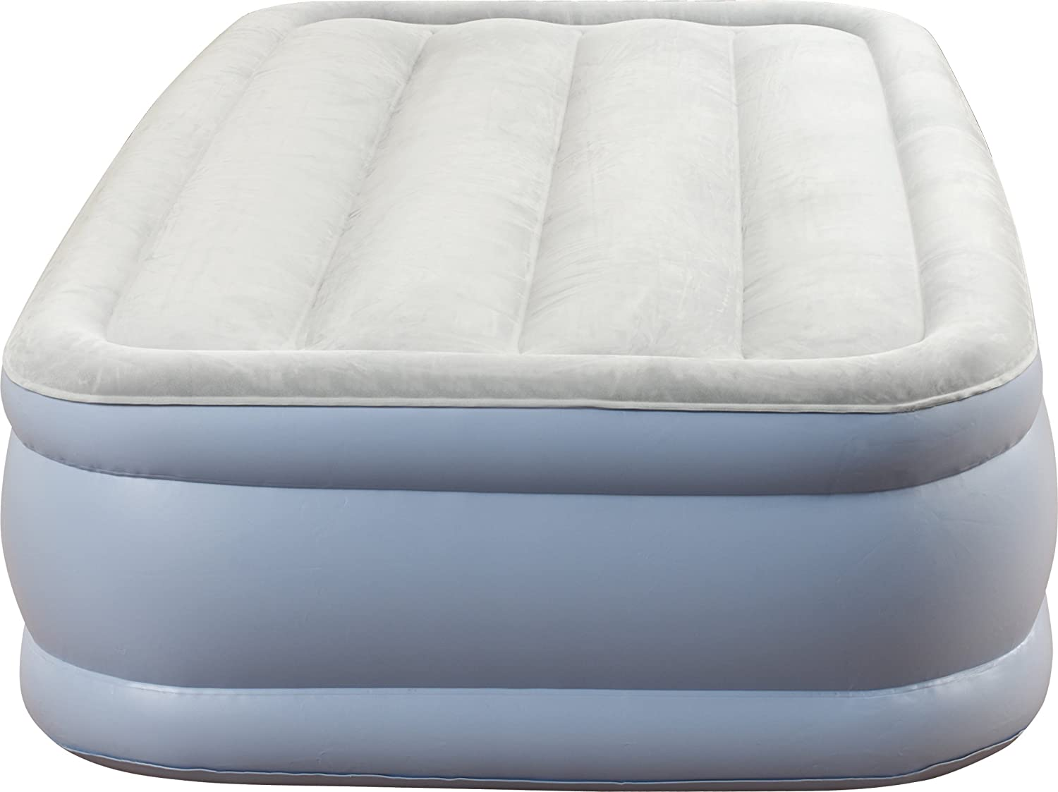 Simmons Beautyrest Hi-Loft Inflatable Air Mattress  Raised-Profile Air Bed with External Pump, Twin