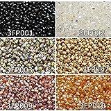 Cuentas de vidrio facetadas checas Fire-Polishedº son redondo 3mm. Set 301: 4 colores, total de 600 perlas (1/2 Mass), 3FP001 3FP002 3FP003 3FP007 3FP009 3FP010