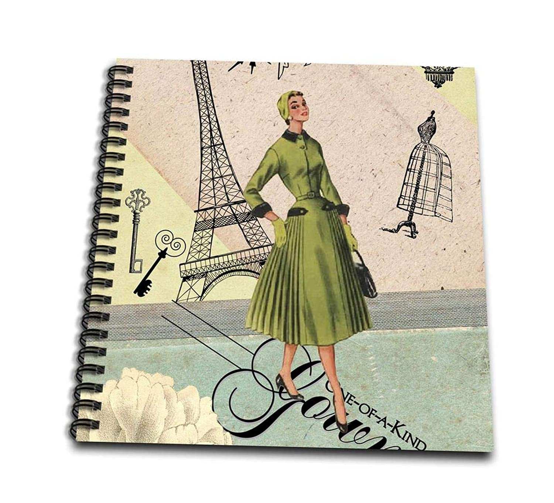 3dRose db_222948_1 Vintage Paris Collage Fashion Drawing Book, 8