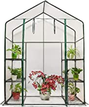 Quictent Greenhouse Mini Walk-in 3 Tiers 6 Shelves 102lbs Max Weight Capacity Portable Plant Garden Outdoor Green House 56