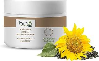bioB Maschera per Capelli Ristrutturante – Effetto Professionale – Formula Naturale – per Capelli Sfibrati o Trattati - co...