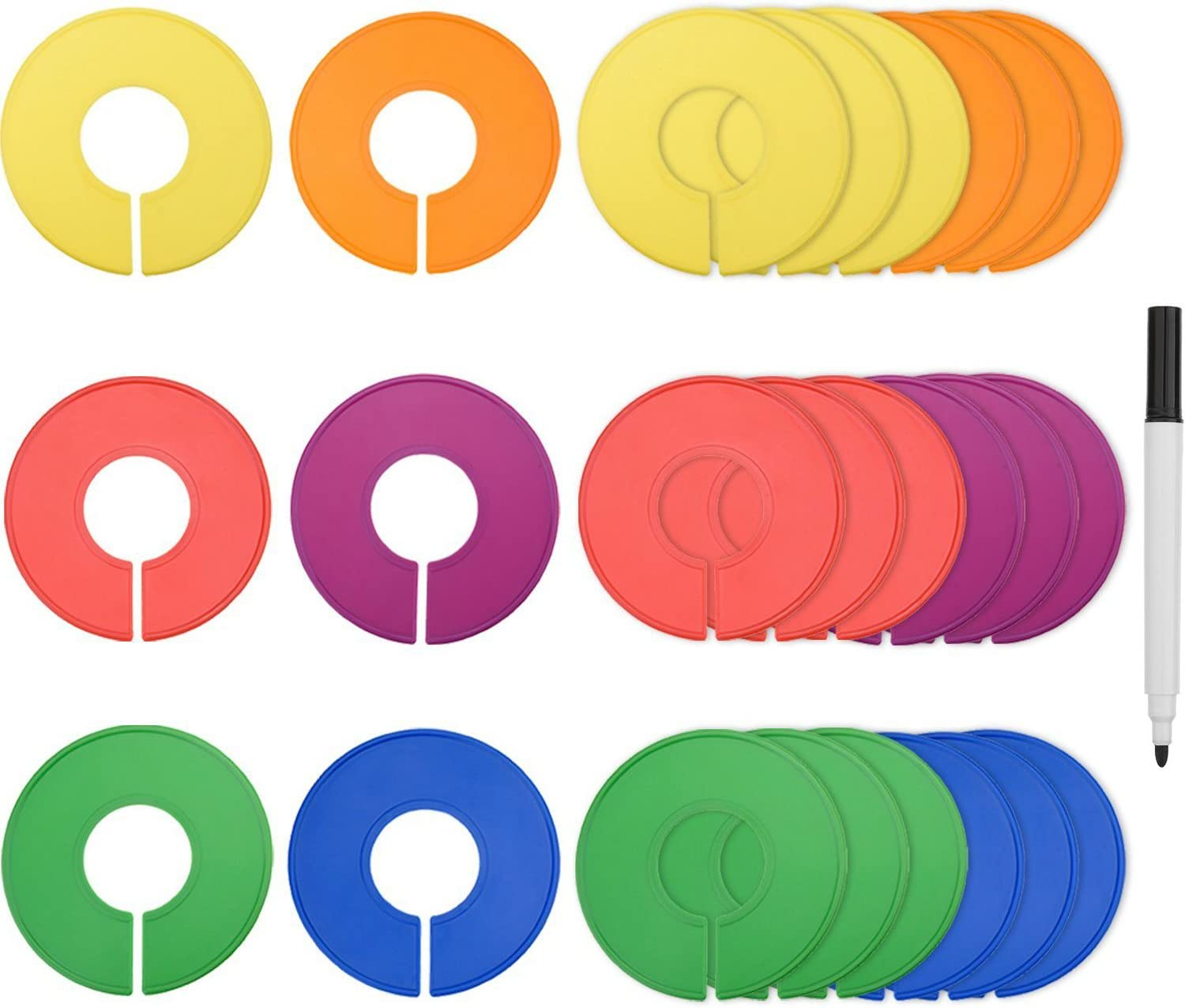Blulu Colored Blank Ranking TOP3 Closet Size Rack Div Clothing Dividers Round service