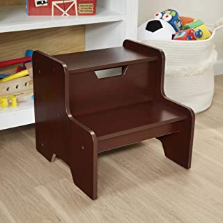 Melissa & Doug Wooden Step Stool (Espresso, Brown, Great Gift for Girls and Boys - Best for 3, 4, 5 Year Olds and Up)