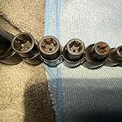 1//4 T20 SENRISE Llave de vaso Torx de 1//4 3//8 T20-T50 para llave de tuerca de impacto para reparaci/ón industrial automotriz