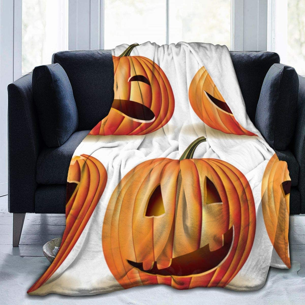 Halloween Pumpkin Soft Sales ! Super beauty product restock quality top! of SALE items from new works Flannel Blanket Lightweight Throw Shaggy
