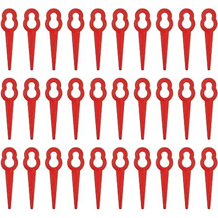 50//100 Stück Rot Kunststoff Ersatzmesser Blades für ART26Li Rasentrimmer