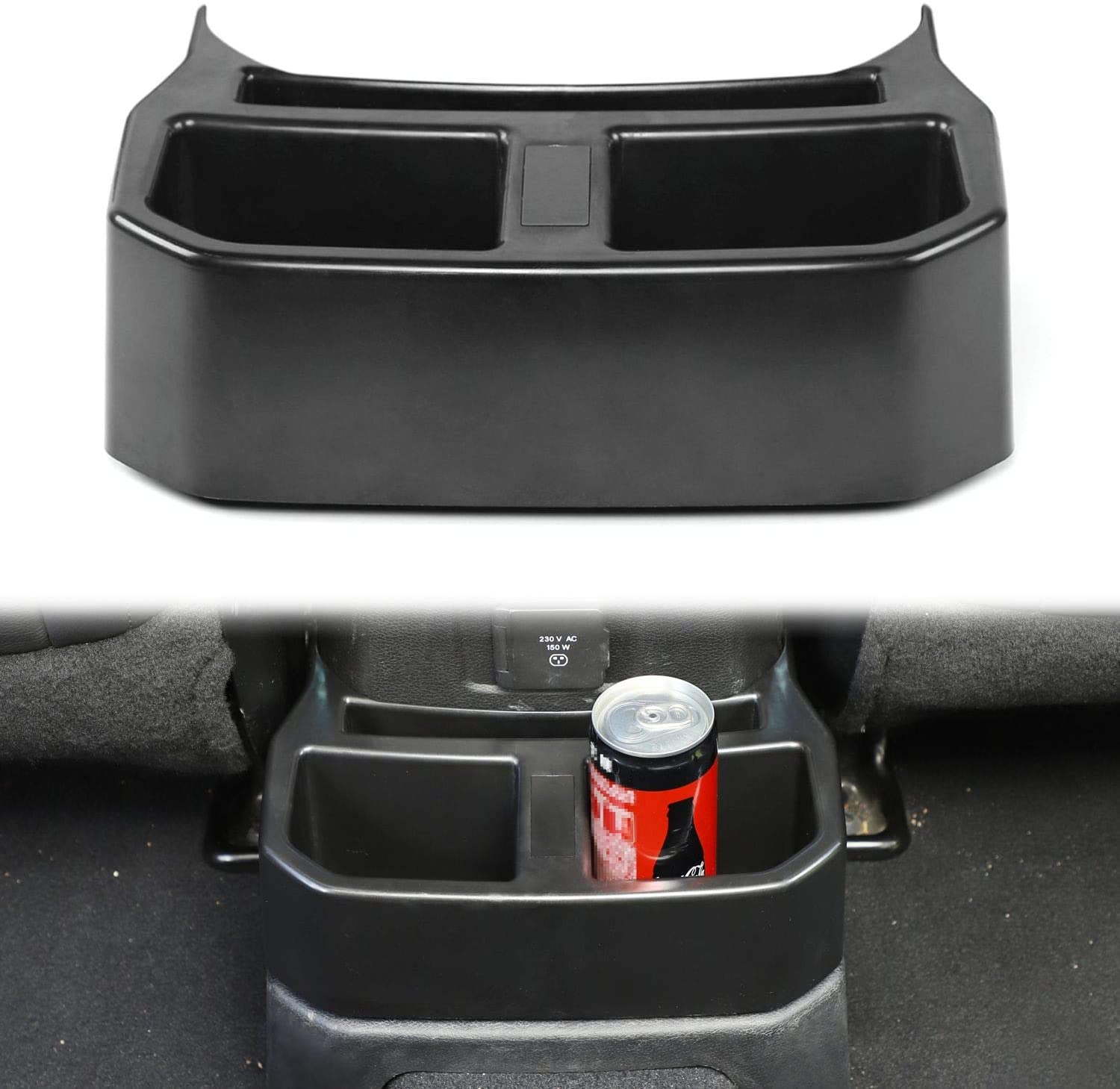 OFFicial mail order JeCar for Jeep JL Rear Cup Mounted Holders Drin Console Cap Cheap mail order sales