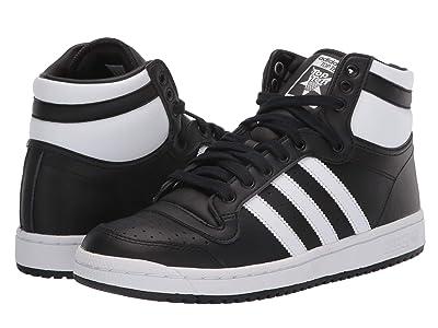 adidas Originals Kids Top Ten Hi (Big Kid) (Black/White/Black) Kids Shoes
