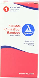Dynarex Unna Boot with Calamine, 4 Inches X 10 Yards (Pack of 12)