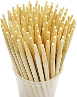 Prouten Thick Bamboo Sticks for Caramel Candy Apple Sticks Corn Dog Skewers Corn Cob Sticks Also for Cakepop Candy Cookie ...