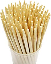 Prouten 5.5 inch 100 pcs Thick Bamboo Sticks for Caramel Candy Apple Sticks Corn Dog Skewers Corn Cob Sticks Also for Cakepop Candy Cookie Lollipop