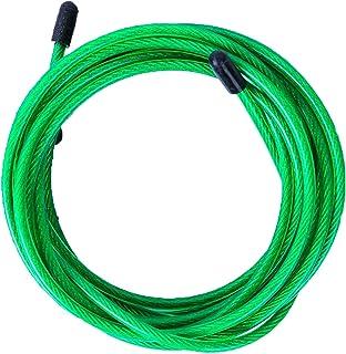 comprar comparacion Cable de Repuesto para Comba de Saltar de Crossfit, Fitness y Boxeo. Ideal para Saltos Dobles | PVC Verde y Acero de 4 mm ...