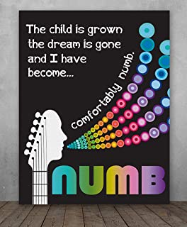 b285f5a7 Poster - Song Lyrics Wall Decor - Comfortably Numb by Pink Floyd Song  Lyrics Art -