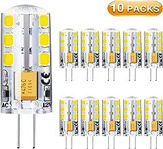 10x G4 G9 LED Dimmbar Halogen Lampe Birne Stiftsockel Leuchtmittel 12V Warmweiß