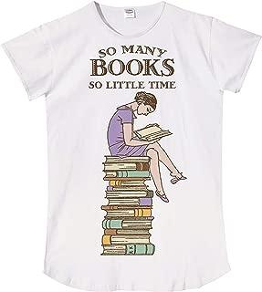 Relevant So Many Books So Little Time Night Shirt Sleepshirt White