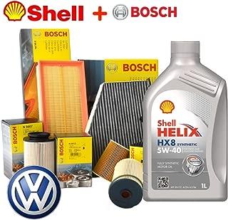 Kit Tagliando aceite Shell HX85W405lt 4filtros Bosch (1457429619, 0450906374o 1457434329, 1457429870, 1987432312)