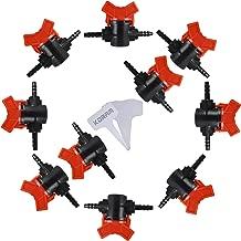 KORAM Drip Irrigation Barbed Valve Shut-Off Valve for 1/4
