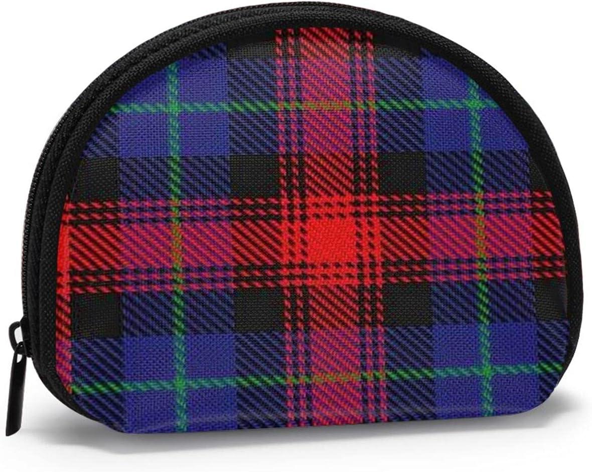 small zipper Coin Purses Vintage zipper Pouch Change Purse Wallets Scottish Clan Maclachlan Tartan